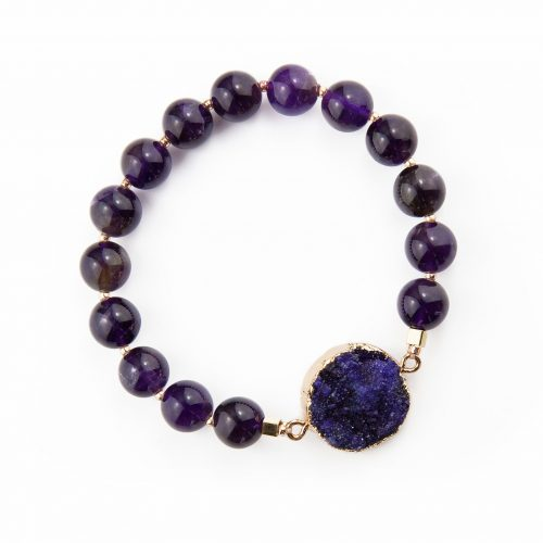 Natural Purple Agate Bracelet