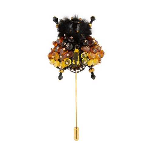 Long-Stem Amber Lapel Pin