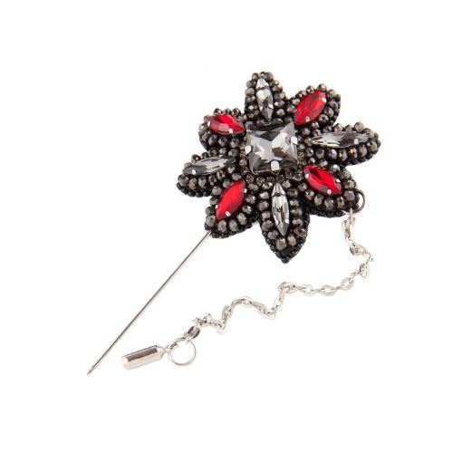 Long-Stem Lapel Pin With Chain