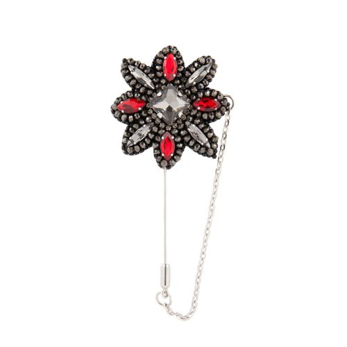 Men's Accessories - Lapel Pin Decorated with Swarovski Crystals | Touch of Luxury