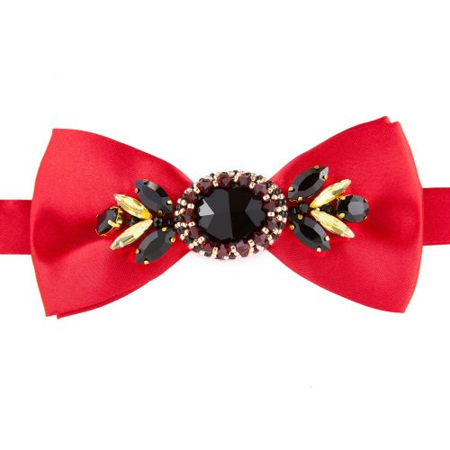 Men's Accessories - Bow Tie Decorated with Swarovski Crystals | Touch of Luxury