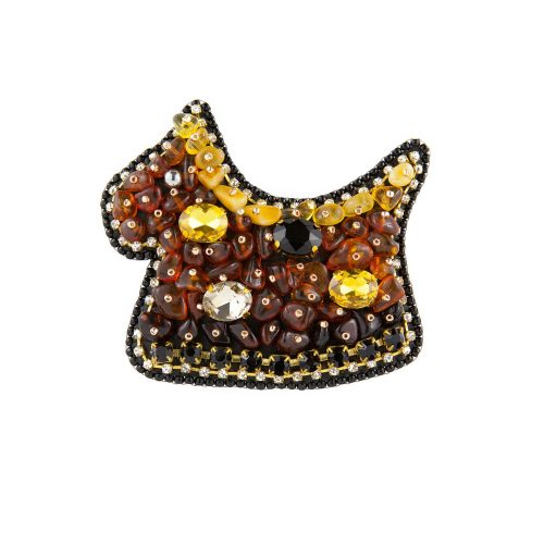 Amber Embroidery Brooch