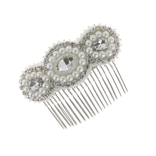 Touch Of Luxury | Bridal Hair Comb decorated with & Swarovski crystals and pearls