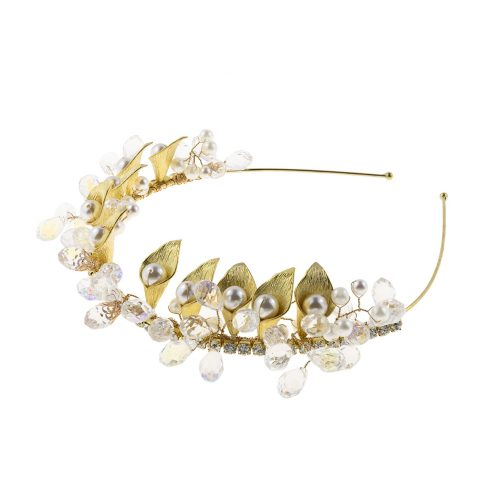 Touch Of Luxury | Bridal Hairband decorated with & Swarovski crystals and pearls