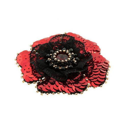 Floral Sequin Brooch