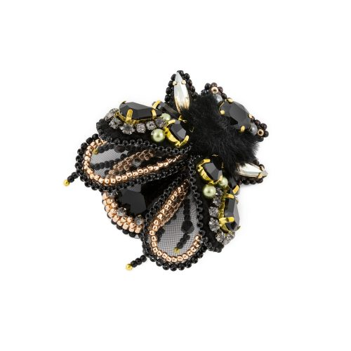 Black Insect Brooch