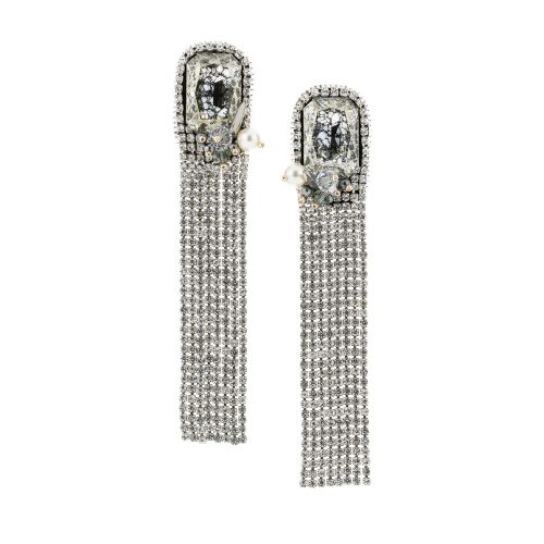 Crystal Mesh Earrings