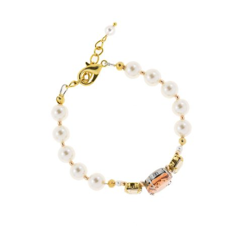 Touch of Luxury   Handmade Jewellery Art Avenue   One-of-a-kind bracelet with Swarovski crystals and pearls