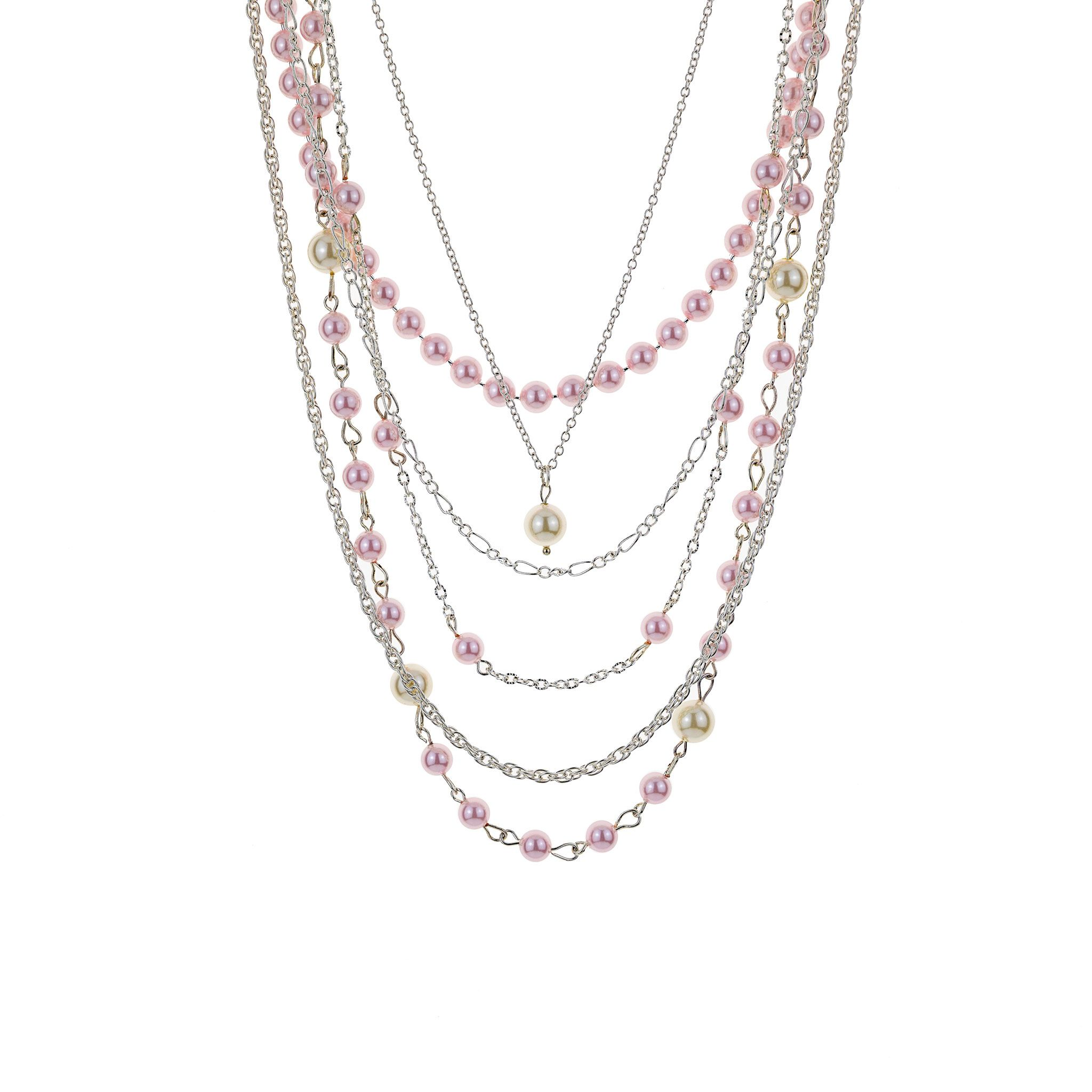 Pink-Tone Layered Necklace