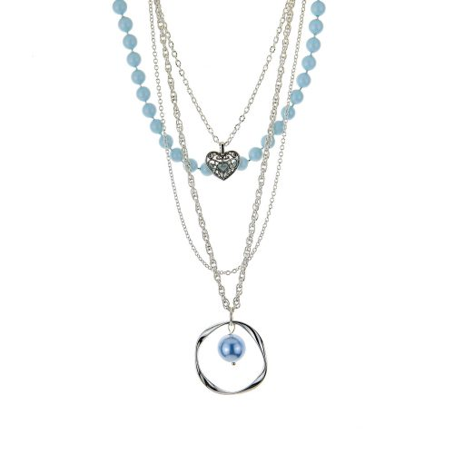 Blue-Tone Layered Necklace