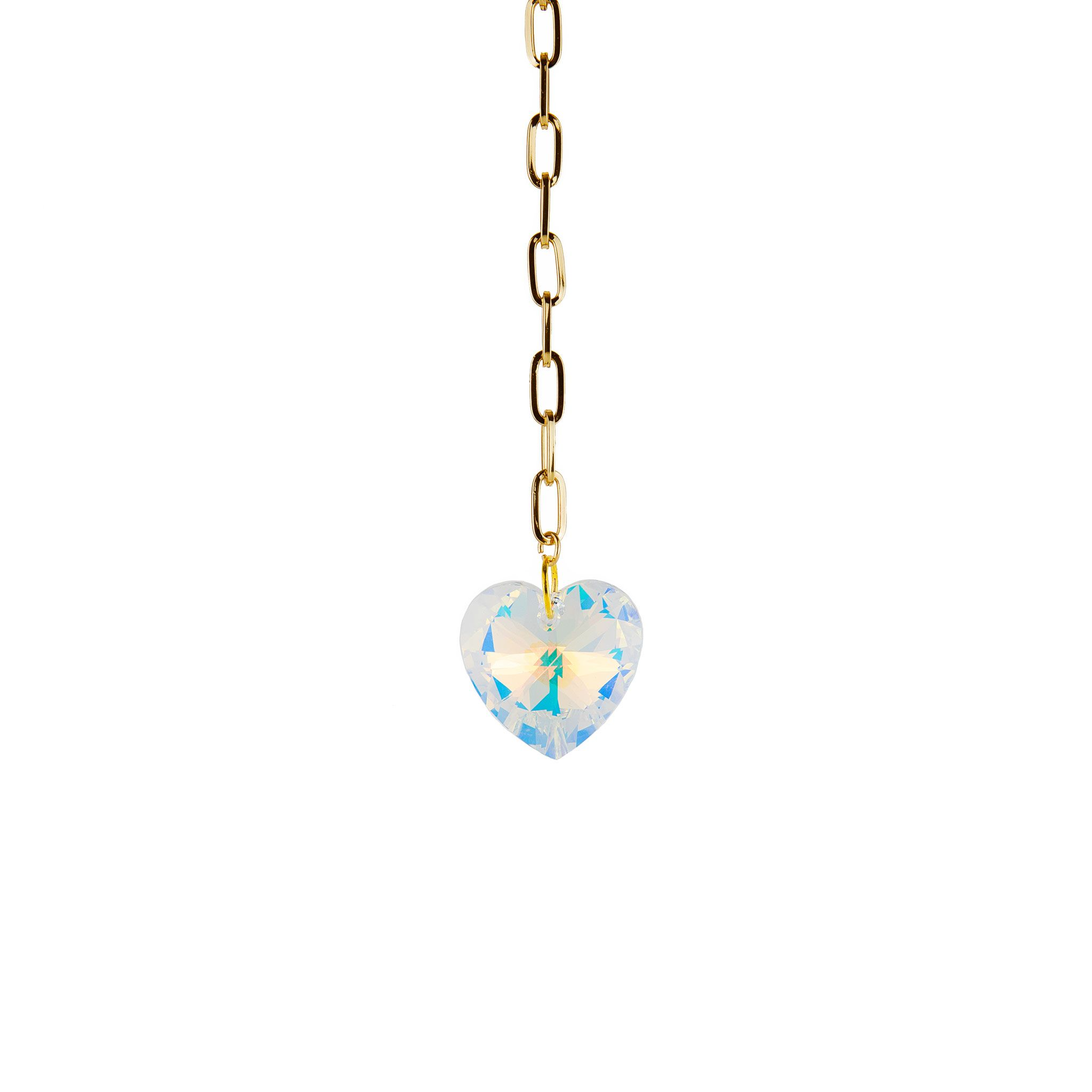 Crystal Heart Pendant Necklace