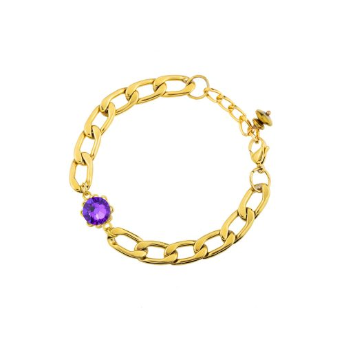 Gold-Tone Bracelet Decorated with Swarovski Crystals | Touch of Luxury - Jewellery Art Avenue