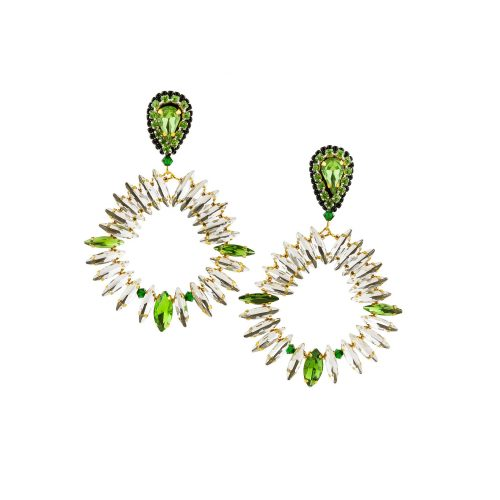 Long Drop Earrings Decorated with Swarovski Crystals | Touch of Luxury - Jewellery Art Avenue