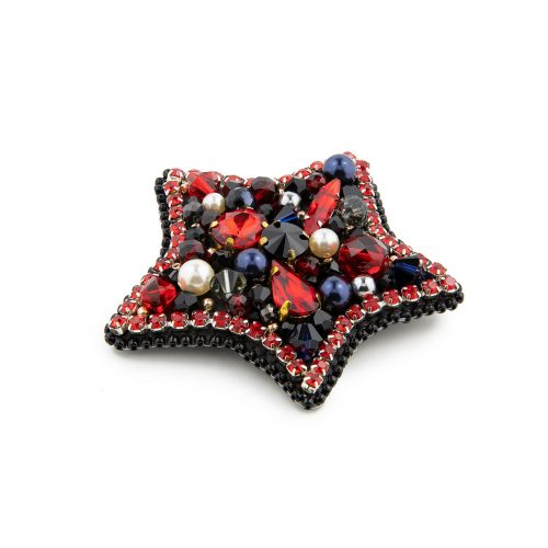 Swarovski-Embellished Star Brooch
