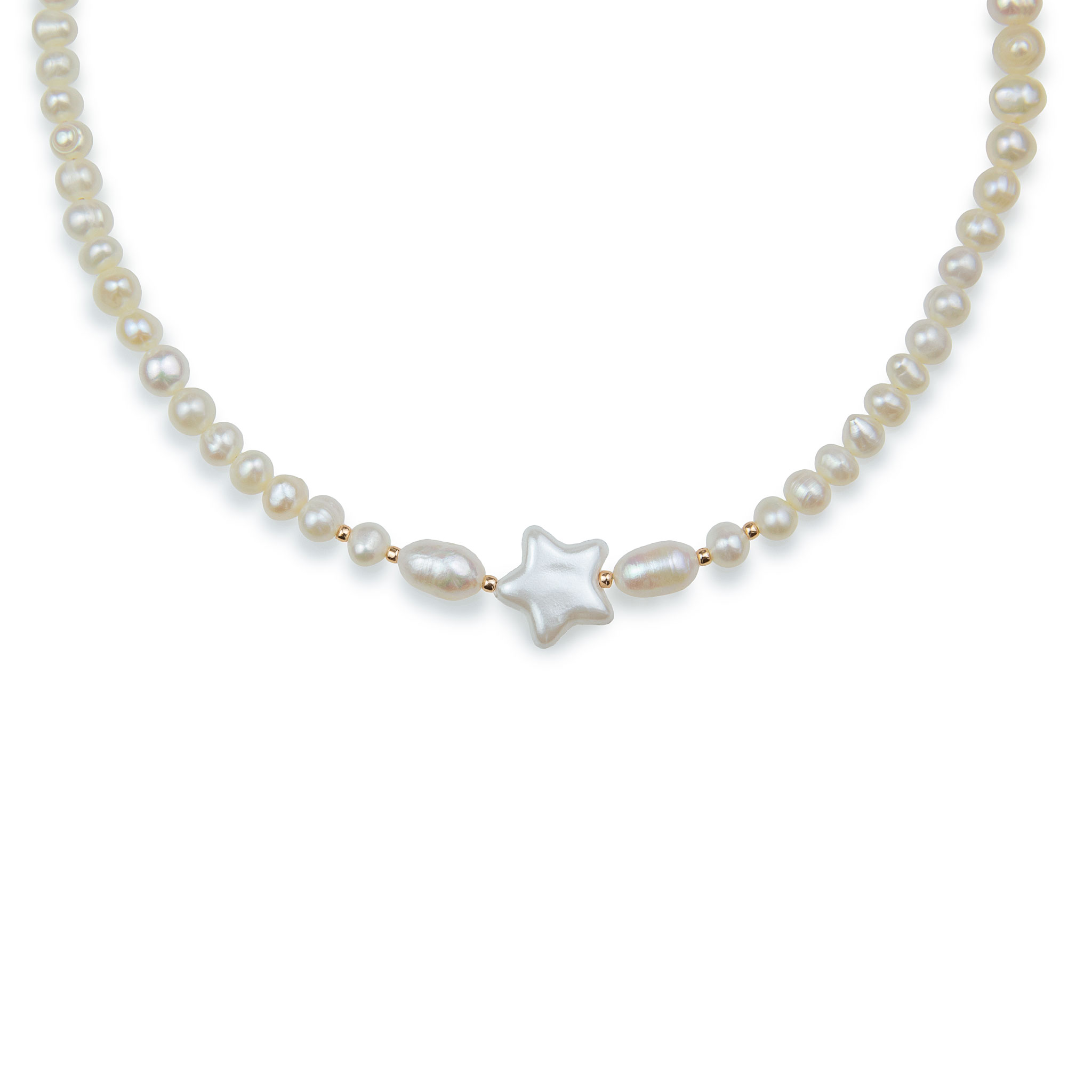 Freshwater Pearl Necklace Decorated with a Star